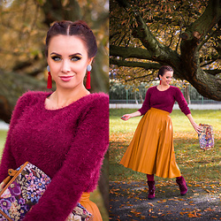Drew - Zara Skirt, Laura Biagiotti Shoes - My favourite autumn colors