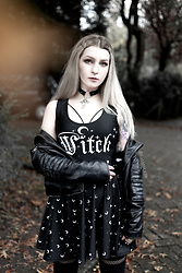 Joan Wolfie - Sorcere Witch Top, H&M Jacket, Sorcere Moonchild Skirt, Black Milk Clothing Tights - AUTUMN WITCH // Joan Wolfie