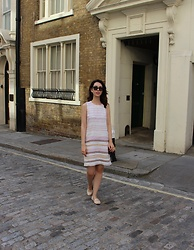 Jelena - Rachel Zoe Linen Dress, Ray Ban Wayfarer Sunglasses, Furla Metropolis Bag - Linen dress