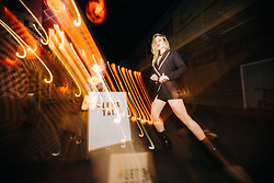 Caitlyn Sway - Ella Lisque Blazer Dress, Public Desire Black Sequin Sock Boots - Keep Talking