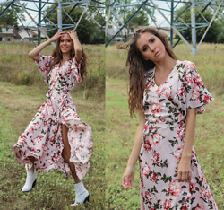 Jenny Mehlmann - Fleurico Designs Floral Maxi Dress, Aldo White Cowboy Boots - @thehungarianbrunette // FROLICKING FLOWER