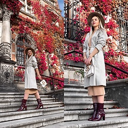 Zuza - Asos Boots, Zara Coat, Topshop Bag, H&M Dress - Autumn colors