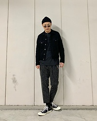 ★masaki★ - Neuw Denim Jacket, The Interrupters Tee, Ch. Trousers, Converse Ct70 - Various Black Outfit