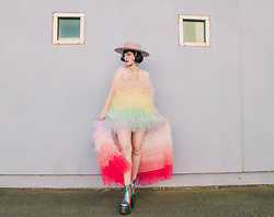 Amy Roiland - Dollskill Dress - Let the rainbows in