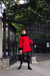 Carolina Pinglo -  - Red and black Coat