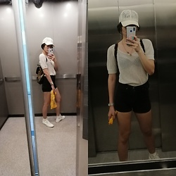 Bernadette Azcarraga - Converse Sneakers, Sm Accessories Lace Cap - Weekend out with the fam