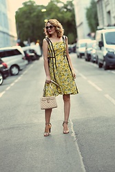 Butterfly Petty - Dresslily Dress, Formenterra Sandals - Yellow dress