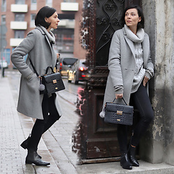 Minimalissmo .. - Melvin & Hamilton Shoes, London Lydc Bag, Emoi Coat - Grey day