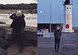 Anca Varsandan - Zaful Boots, Zaful Sweater - Anstruther, Scotland