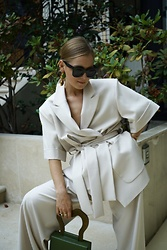 Anna Borisovna - Individi Jacket, Individi Georgia Pants - The Beige Suit