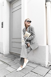 Anna Borisovna - Arket Blazer, Numen Bags Bag, The Row Loafer, Arket Pants - The Grey ARKET Suit