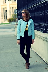 Butterfly Petty - Zaful Jacket, Fraiche Boots, Michael Kors Bag, New Yorker T Shirt - Casual outfit