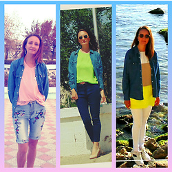 Galina K -  - Three looks with denim shirt