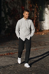 Kevin Elezaj - Adidas Sneakers, Dockers Pants, Dockers Shirt - Sun is up