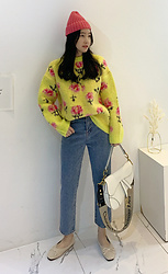 Miamiyu K - Miamasvin Flower Pattern Knit Sweater - Sweet Allegory
