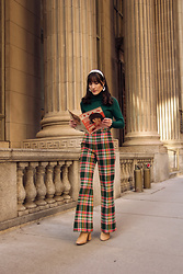 Carolina Pinglo -  - Flared Plaid Pants
