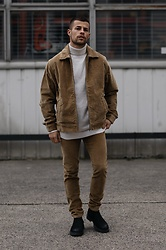 Kevin Elezaj - Jack & Jones Boots, Jack & Jones Pants, Cos Sweater, Jack & Jones Jacket - Camel