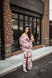Kimberly Kong - The Codex Club Floral Maxi Dress With Slit - November Highlights: Checking out Chateau Elan & More