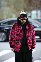 INWON LEE - Byther Wavy Velvet Padded Bomber Jacket, Byther Headband - Shiny Bomber Jacket
