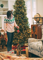 "Lindsey Puls - Modcloth Dino ""Ugly"" Sweater - Getting in the Holiday Spirit"