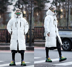INWON LEE - Byther Himalaya Heavy Down Ski Long Padded White Jacket, Byther Leggings - Padded White Jacket