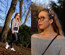 Emma Reay - Dresslily Grey Jumper Gifted - A WINTER WALK IN THE PARK