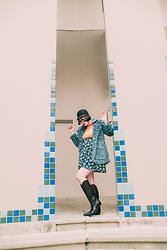 Amy Roiland - Compania Fantastica Jacket, Marc Fisher Boots - Snow Leopard