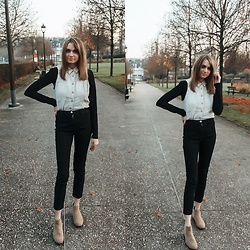 Audrey - Mango Blouse, Organic Basics Top, Asos Jeans - Layering in fall