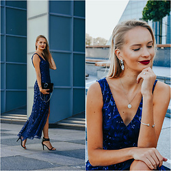 Madara L - Ever Pretty Blue Sequin Dress - Feeling glam