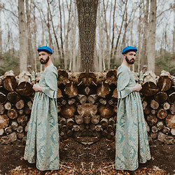 ⋆✞ david ross lawn ✞⋆ - Mermaid Haberdashery Marie Antoinette Dress, Rebel Supply Co Blue Beret - 𝐰𝐢𝐧𝐭𝐞𝐫