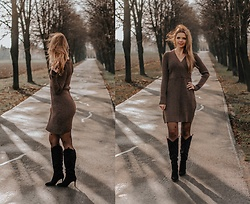 Marcela Wlodarczyk - Bonprix Sweater Dress - Glitter sweater dress - christmas outfit with bonprix
