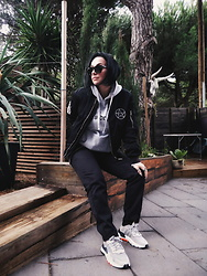 Priska Gomez - Hawkers Sunglasses, Disturbia Bomber Jacket, Southside Pirates Hoodie, Dickies Black Chino Pants, Adidas Nite Jogger - Caught Between Worlds