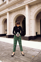Carolina Pinglo -  - Green Plaid Pants