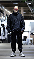 INWON LEE - Byther Oversize Loose Fit Black Windbreaker, Byther Webbing Buckle Cargo Jogger Pants - High Fashion High Techwear