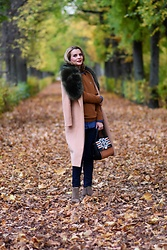 Butterfly Petty - Lacoste Sweater, Guess Bag, Zaful Coat, H&M Jeans - Before winter