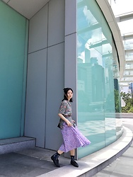 Fannyhyy - Vintage Shirt, Vintage Skirt - In Flowers