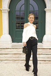 Anna Borisovna - Zara Sweater, Zara Bag, Zara Pants, Mango Shoes, Massimo Dutti Belt - White and Black