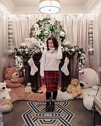 Lovely Blasphemy - Ank Rouge White Knit Turtleneck Top - Merry Christmas