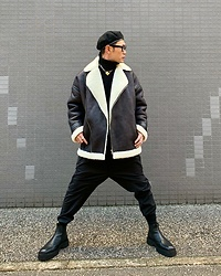 ★masaki★ - Rothco Beret, Asos Shaling Jacket, Ch. Dropchrotch Trousers, Asos Chanky Chelsea, Vitaly Necklace - What a Lovey Day