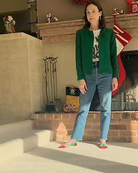 Pip A. - Armani Exchange Blazer, Levi's® Jeans, Pip Addis Earrings - Christmas Casual