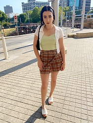 Janette Voski - Brandy Melville Usa Skirt, Brandy Melville Usa Lime Top, Dylan Kain Black Bag - Summertime Sweetness
