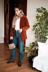 Daniella Robins - Corduroy Blazer - Style Of The Day: Corduroy & Denim