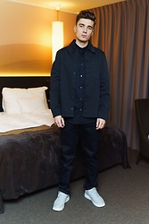 Andreas Sundbom - Filippa K Overshirt, Filippa Shirt, Filippa K Pants, Nike Sneakers - Happy New Year