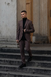 Kevin Elezaj - Tiger Of Sweden Shoes, Allsaints Suit, Cos Turtleneck - Suit up