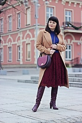 Moda_i_takie_tam - H&M Camel Coat, New Look Burgundy Skirt, Zara Burgundy Boots, United Colors Of Benetton Cashmere Sweater - New year resolutions