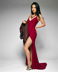 Kimberly Kong - Asos Gown With Thigh High Slit - Optimum Nutrition: Fitness Resolutions Made Easy