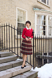 Carolina Pinglo -  - Red Plaid Skirt
