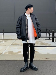 ★masaki★ - Rothco 8xl Bomber, Neuw Denim Jeans, Asos Chelsea, Vitaly Padlock Necklace - What a Lovely Day