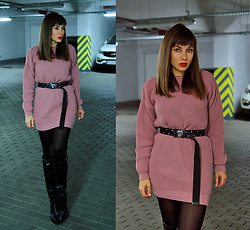Jointy&Croissanty © - Femmeluxefinery Dress - Pastel pink sweater dress