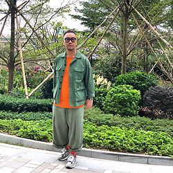 Mannix Lo - Online Shop Coverall, Zara Tee, Online Shop Loose Fit Pants, Madness X New Balance 990v2 Sneakers - 3 hours feels like 10 minutes with the right person
